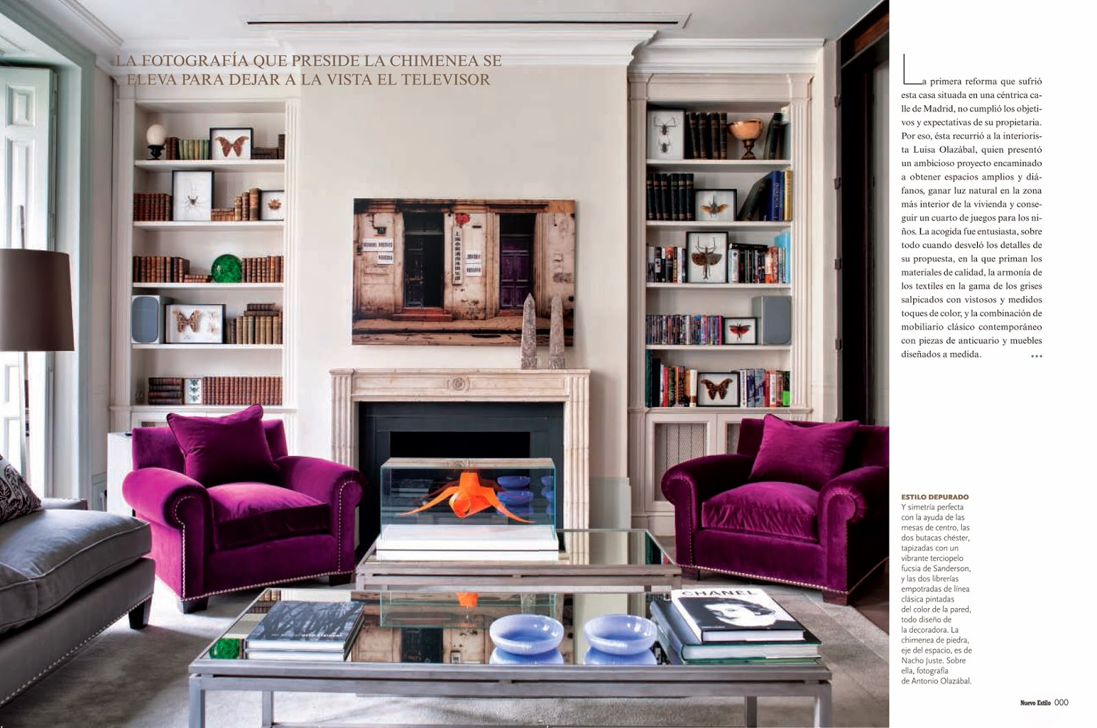 living room color schemes with grey simple wall unit designs for rosa beltran design: nuevo estilo nails it every time
