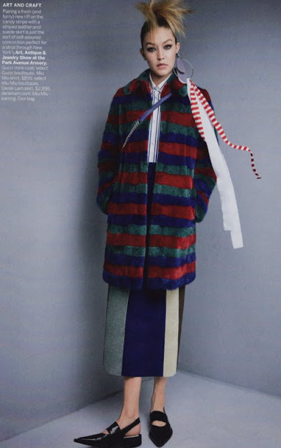 Gucci coat and Derek Lam skirt, Vogue November 2015