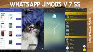 UPDATE : Download WhatsApp JiMODS Bisa Ganti Tema v7.55
