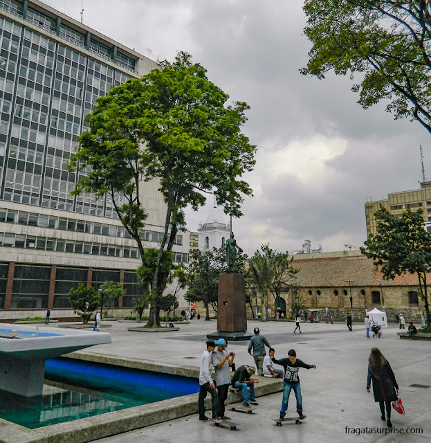 Parque Santander, em Bogotá