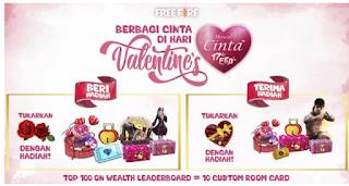 Cara Dapatkan Hadiah di Event Valentine Free Fire
