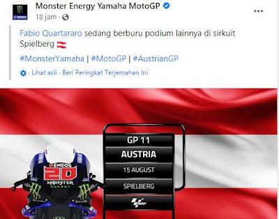 Ini Penyebab Vinales Tidak Akan Balapan di GP Austria 2021, PANAS !!!