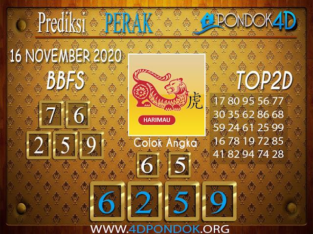 Prediksi Togel PERAK PONDOK4D 16 NOVEMBER 2020