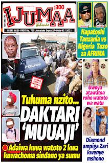 Magazeti ya Tanzania leo Jumatatu September 27,2021 Newspapers