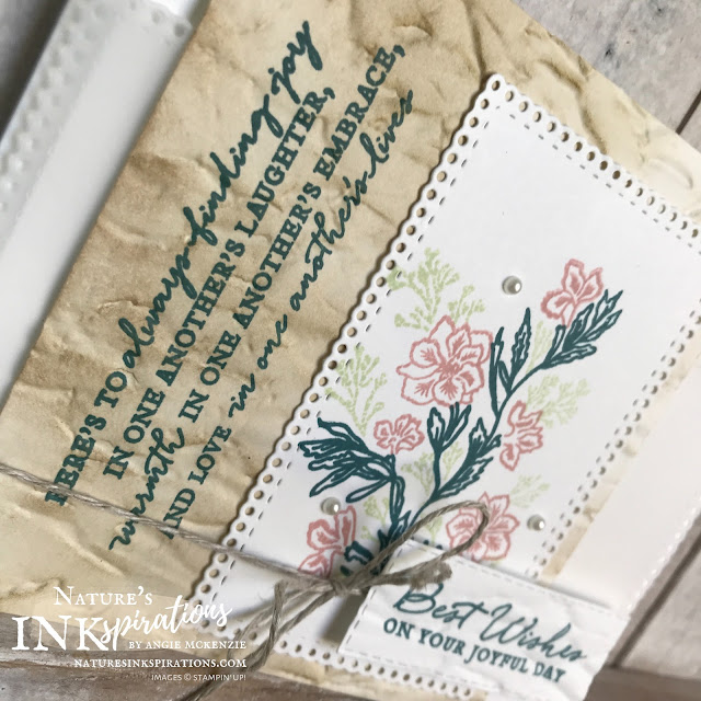 By Angie McKenzie for #GDP241 Color Challenge entry; Click READ or VISIT to go to my blog for details! Featuring the Path of Petals Stamp Set, Ornate Layers Dies and Old World Paper 3D Embossing Folder which is available to customers on June 3, 2020; #GDP241 #stampinup #handmadecards #naturesinkspirations #stationerybyangie #naturecards #anyoccasioncards #cardchallenges #makingotherssmileonecreationatatime #pathofpetalsstampset #ornatelayersdies #sponging #cardtechniques #keepstamping
