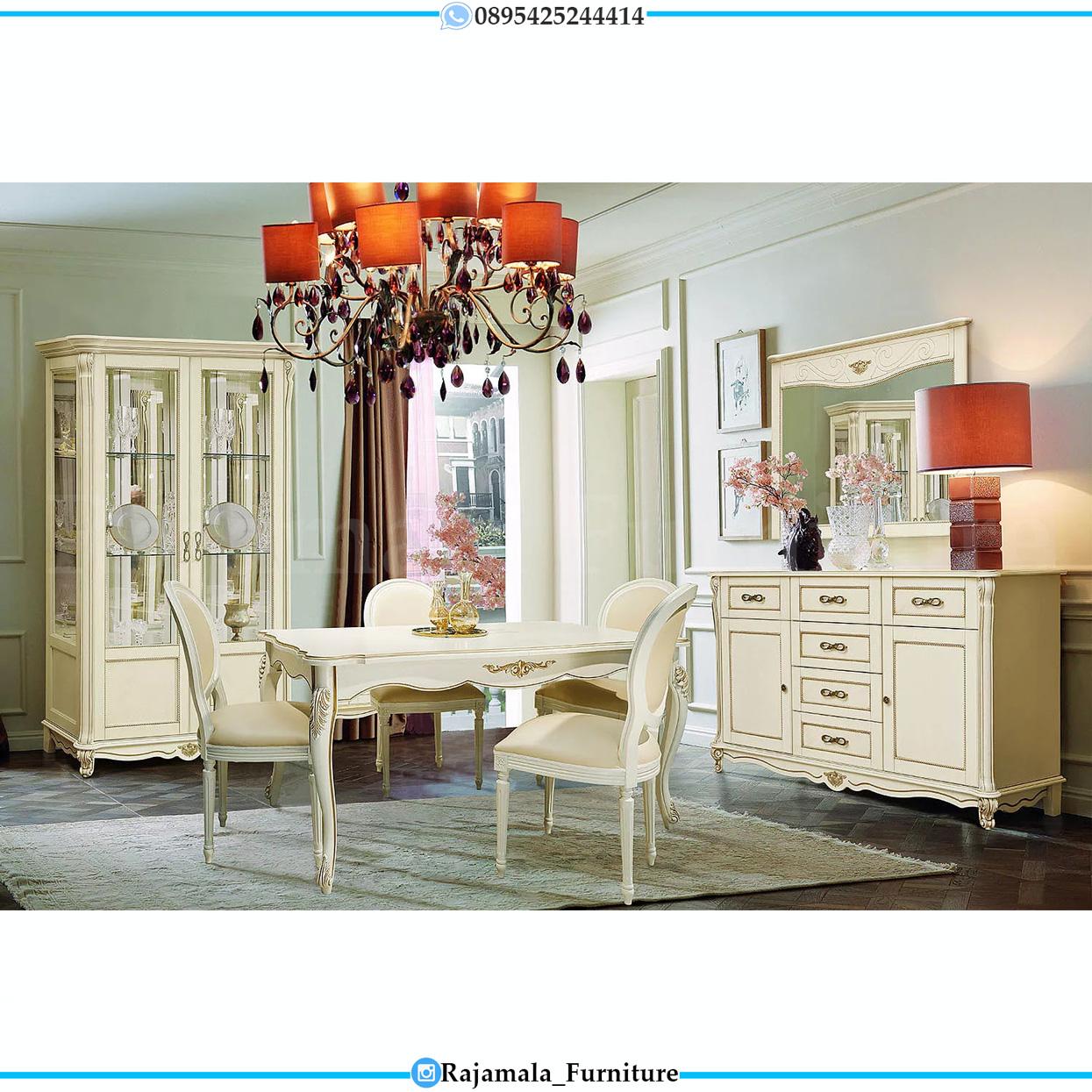 Meja Makan Minimalis Terbaru Furniture Jepara Luxury Classic Indonesia RM-0273