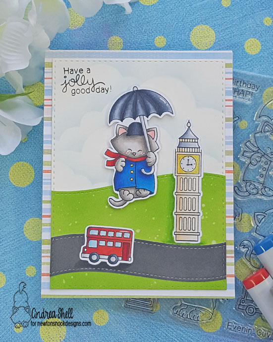 Have a jolly good day by Andrea features Newton Dreams of London by Newton's Nook Designs; #newtonsnook
