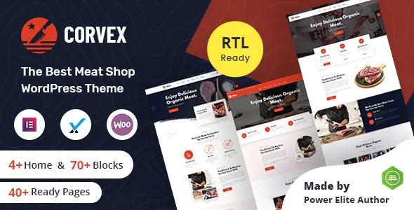 Best Butcher & Meat Shop WordPress Theme + RTL