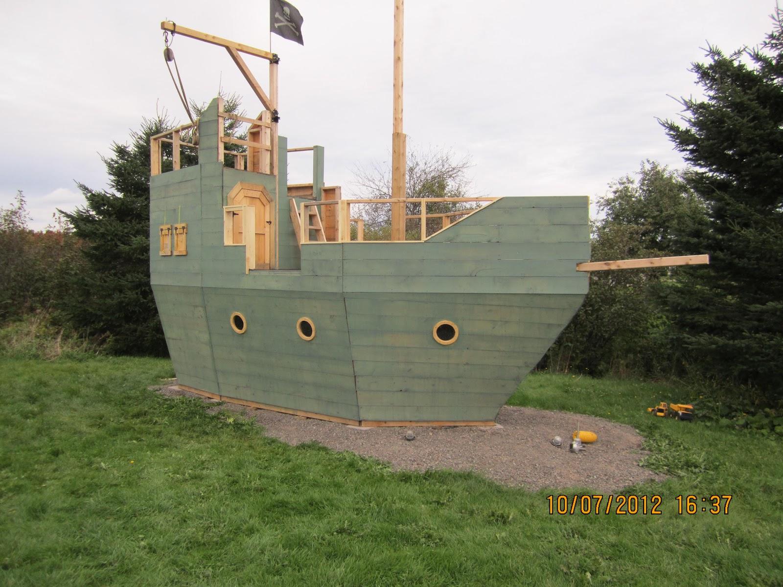 backyard kidz backyard pirate ship playhouse the paint