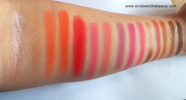 Blush Tribe The Malika Palette swatches