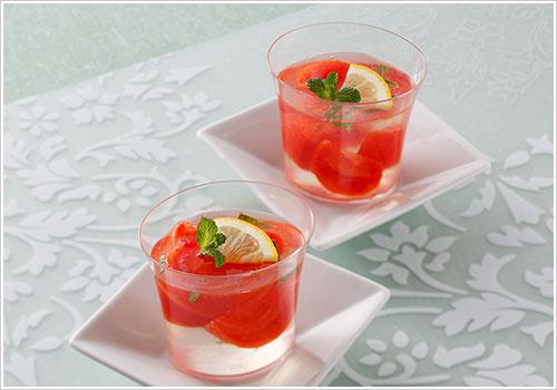 トマトとレモンのゼリー_ミント風味