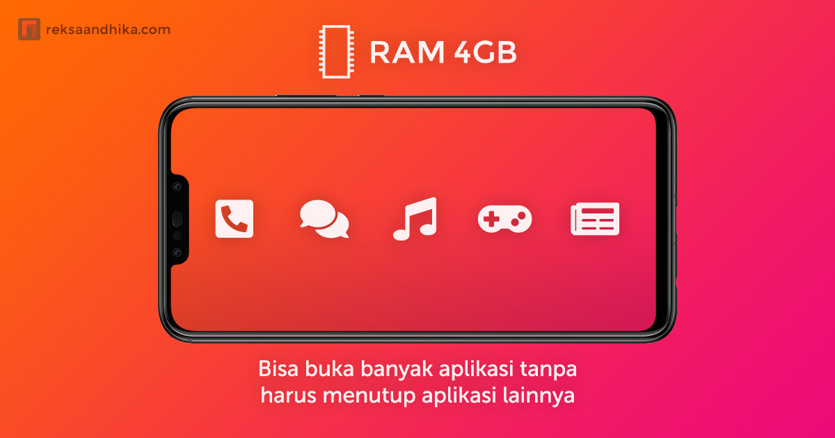 RAM 4GB, bisa buka banyak aplikasi