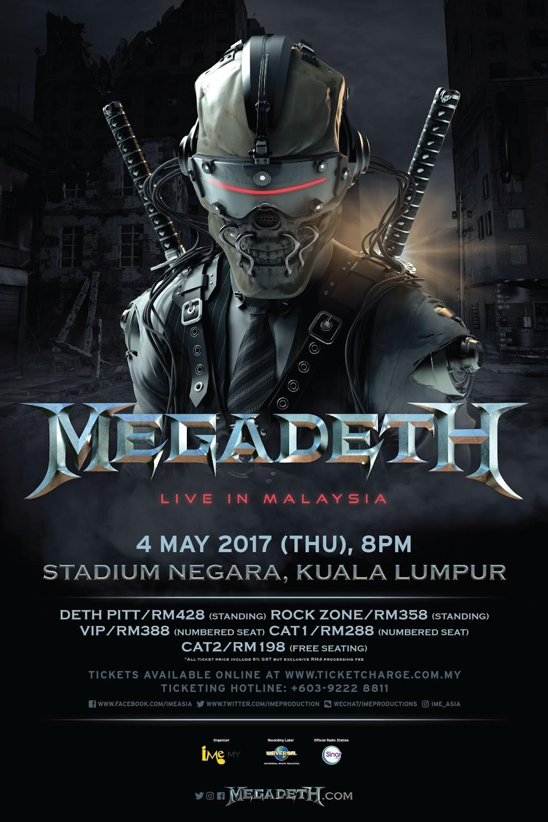 Concert] MEGADETH LIVE IN MALAYSIA 2017 @ Stadium Negara