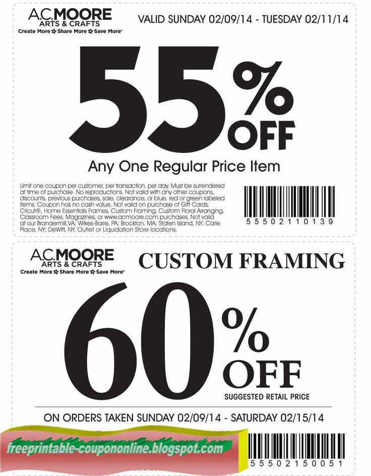 Shopping Tips for AC Moore: 1. AC Moore Rewards members earn 10 points for every $1. Collect 2, points to receive $10 in store credit. 2. Teachers, as long as you have identification, you'll receive 15% off your purchase every time you shop.
