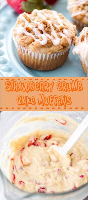 Strawberry Crumb Cake Muffins