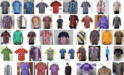 batik pria mega mendung