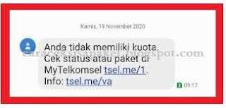 termasuk Telkomsel memberikan masa aktif paket internet  Cara Cek Masa Aktif paket internet Telkomsel