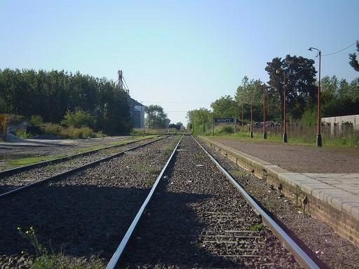 Vias del ferrocarril en Monte Relato Muerte Padre Ausente