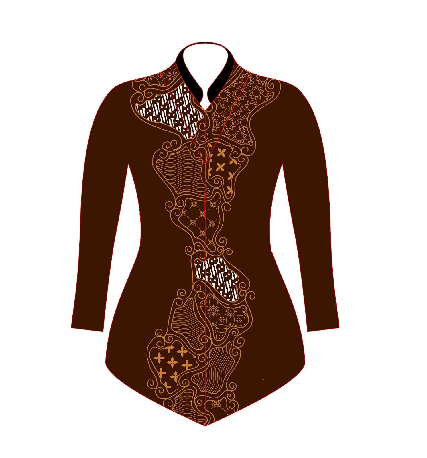 Contoh Gambar Baju Batik Modern: Desain Baju Batik