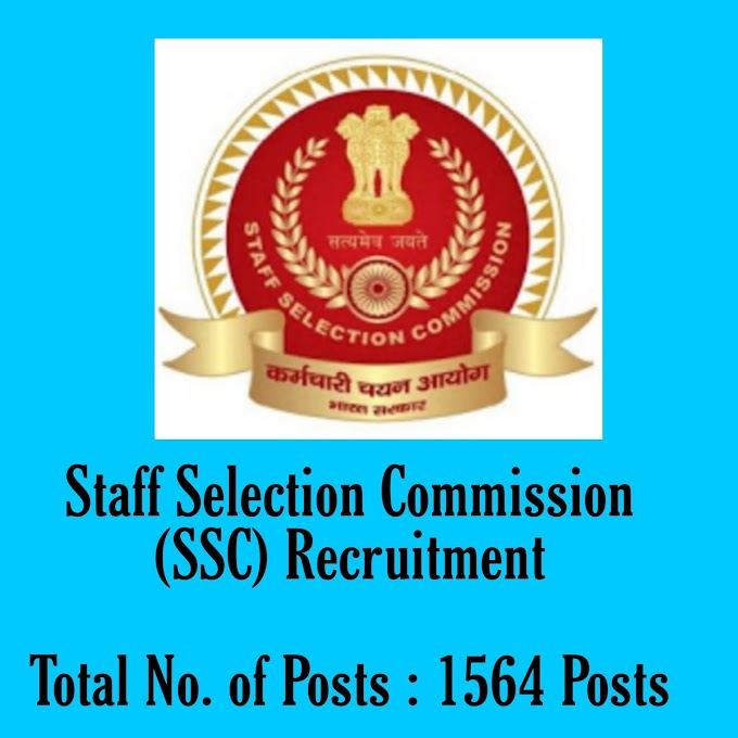 1564 Posts - Staff Selection Commission (SSC) Recruitment - Sub-Inspector in Delhi Police and Central Armed Police Forces Examination 2020