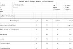 Aplikasi Penilaian dan Raport Semester 1