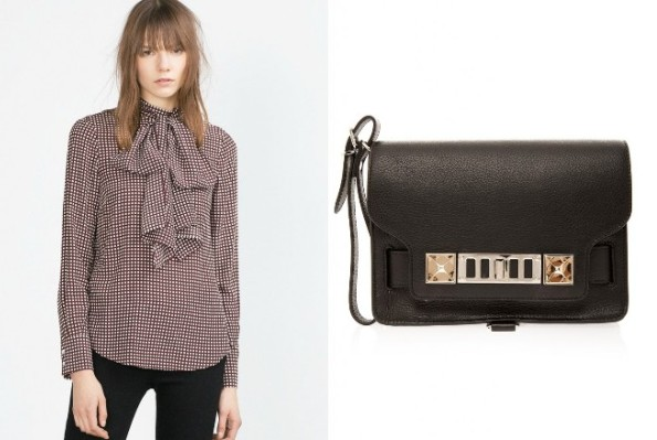 Princess Madaleine's ZARA Printed Blouse And PROENZA SCHOULER PS11 Clutch