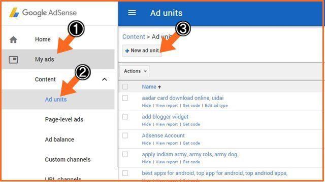 Google Adsense के Ad Blog में कैंसे लगायें