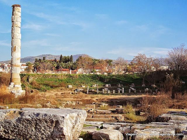 O que restou do Templo de Artemis