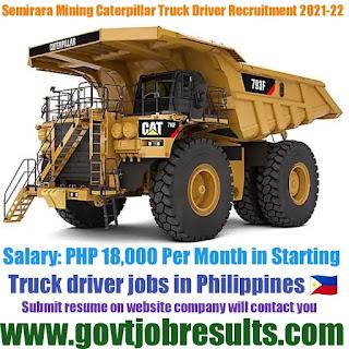 Semirara Mining Power Corporation Truck Driver Recruitment 2021-22