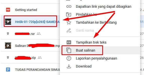 Membuat Salinan File di Google Drive
