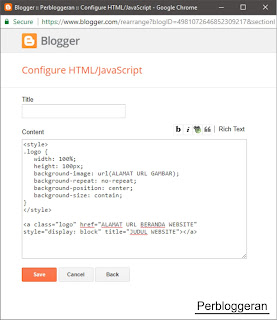 Add Widget Blogger HTML JavaScript