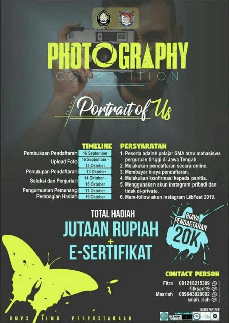 Lomba Fotografi Undip 2019 SMA Sederajat/Mahasiswa Se-Jawa Tengah