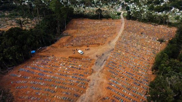 Brasil registra 3 mil mortes por Covid-19 em 24h e ultrapassa 401 mil óbitos