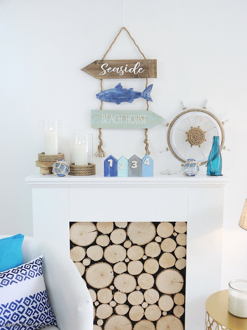 DIY Nautical and Coastal Decor - easy farmhouse craft projects to decorate your home, table, tiered tray or party space! by BirdsParty.com @birdsparty #diy #nautical #nauticaldecor #coastaldecor #farmhouse #farmhousedecor #farmhousenautical #coastalfarmhouse #diycrafts #dollartree #nauticalfarmhouse