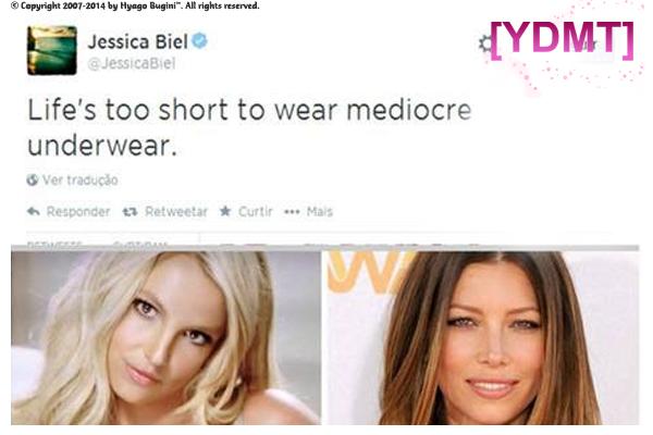 Resultado de imagem para JESSICA BIEL BRITNEY SPEARS TWITTER