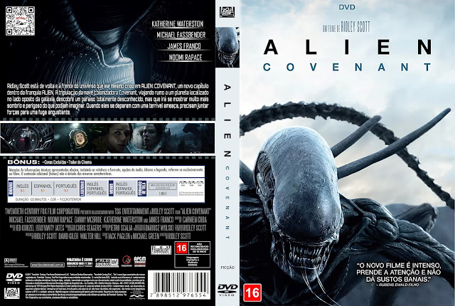 Capa DVD Alien: Covenant [Custom]