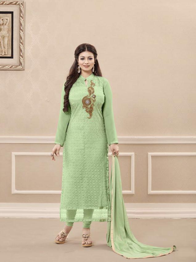 ff3a2eb44a Shisha-Designer Embroidery Multi Color Georgette Salwar Suit - Helix ...