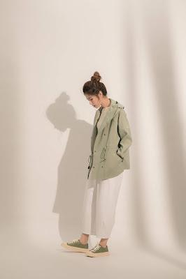 午後微雨連帽外套-綠波樹蔭