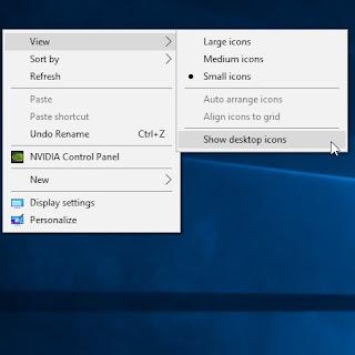 Cara menghilangkan ikon pada Dekstop tanpa menghapus