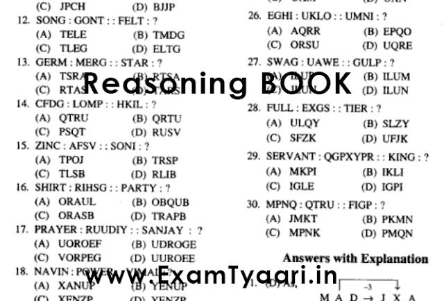 Free-Book: RRB ALP Reasoning eBook Study Material [Download PDF] - Exam Tyaari