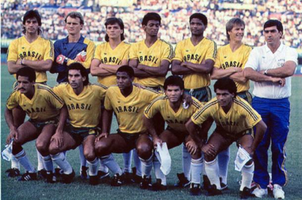 time brasileiro de futebol no gramado de seul 1988 antes de partida