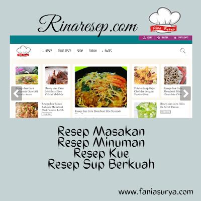 situs rinaresep.com untuk resep masakan