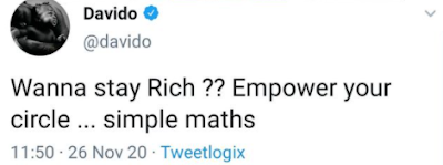 Davido uncovers the mystery of remaining rich