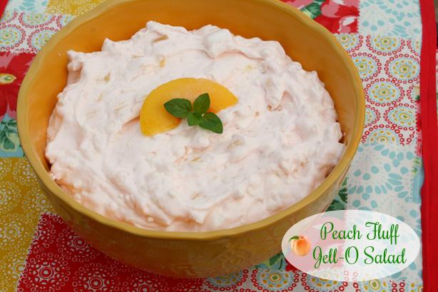 Peach Jell-O Fluff Salad