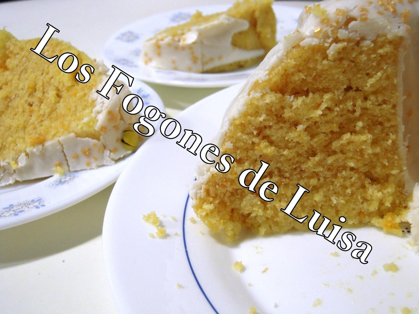 Los fogones de luisa bizcocho de naranja con glasa al - Bizcocho con microondas ...