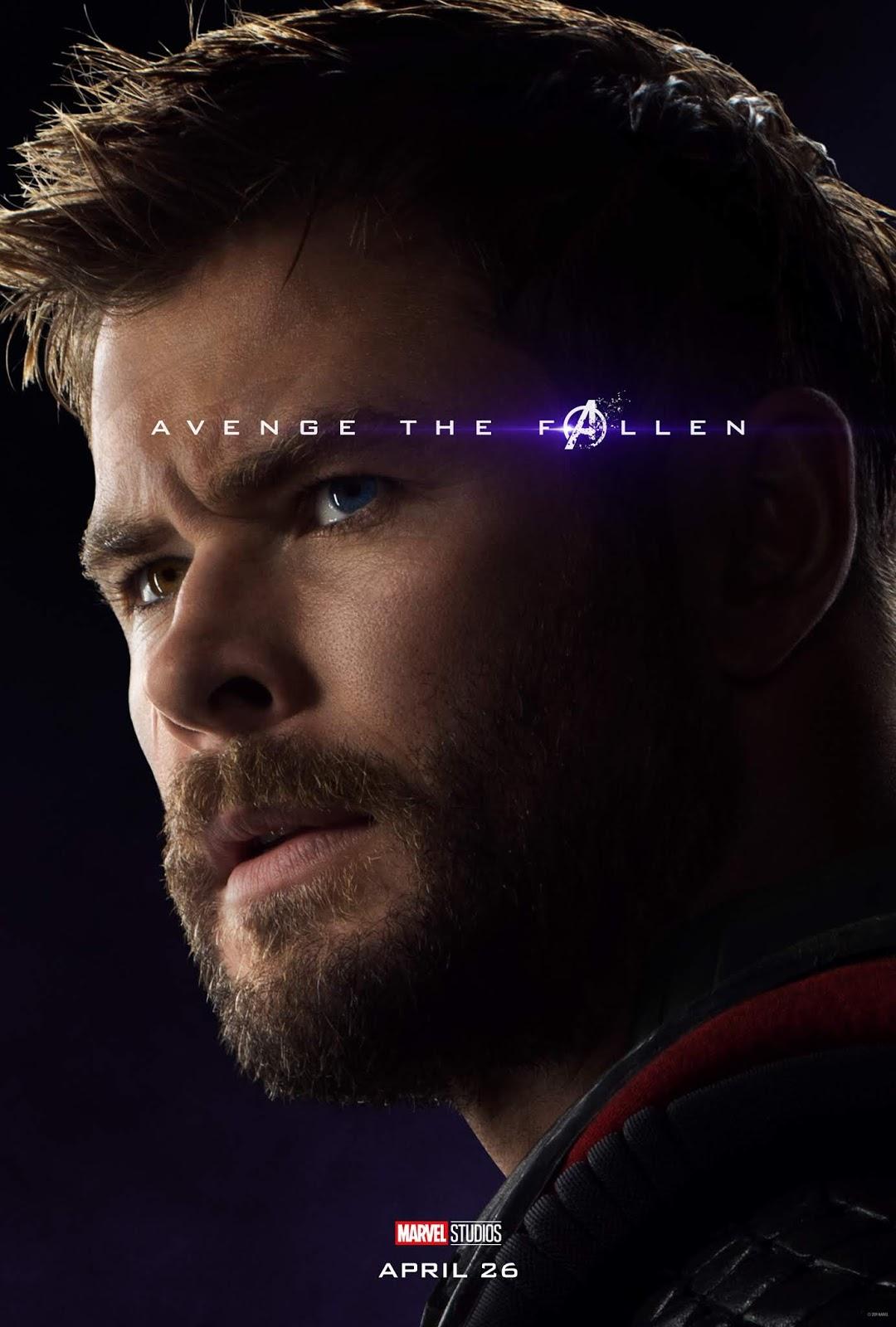 Sasaki Time Avengers Endgame Character Poster For Thor