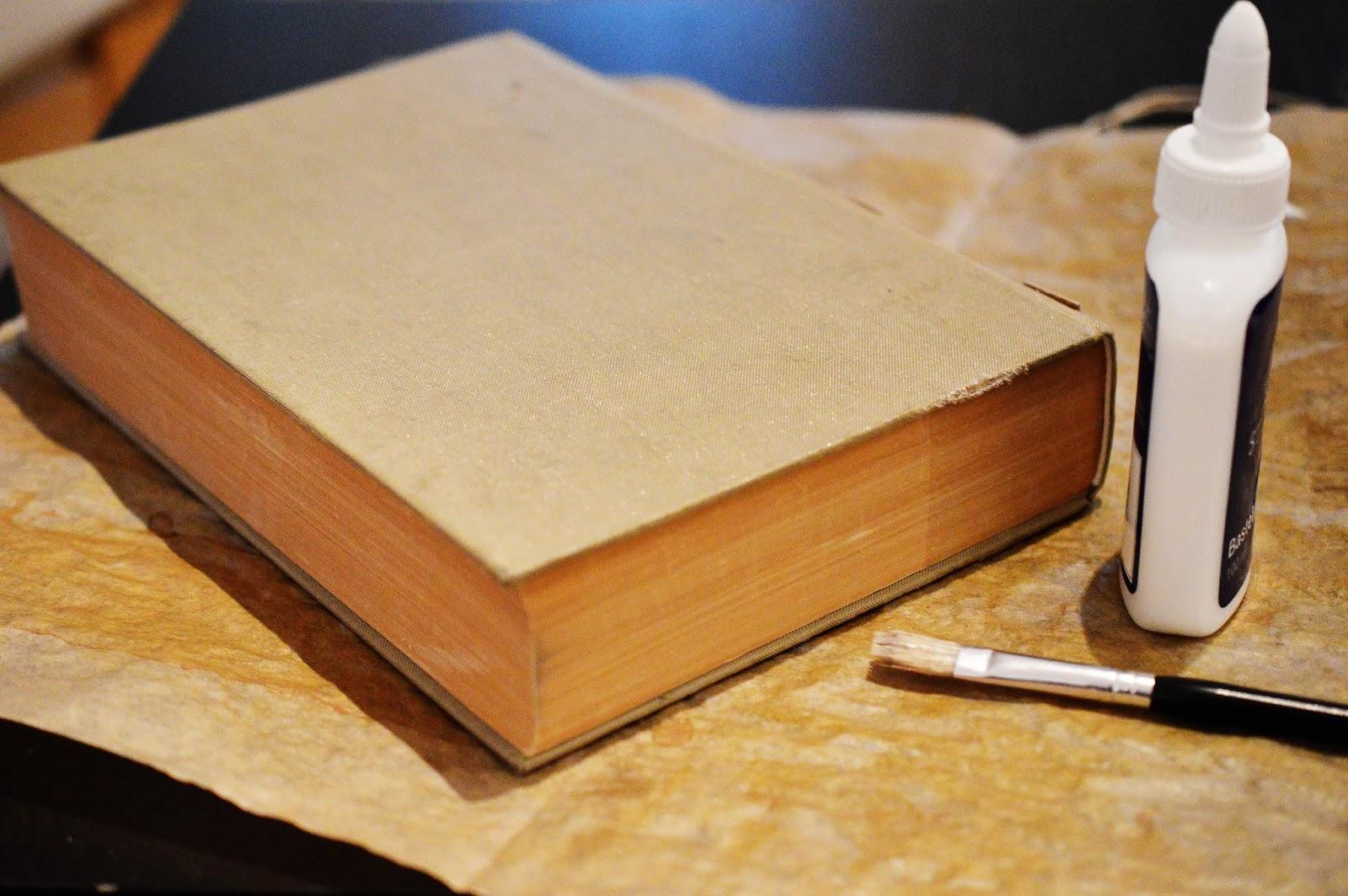 supplies for a diy papier-maché spell book