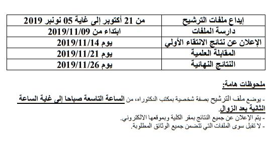 فتح تكوين الدكتوراه : الاجتهاد و العمران : المناهج و القضايا ؛ كلية الآداب و العلوم الإنسانية مكناس 2019-2020