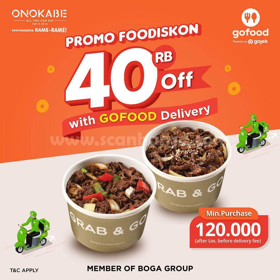 Promo Onokabe Diskon Rp 40.000 pesan antar via Gofood