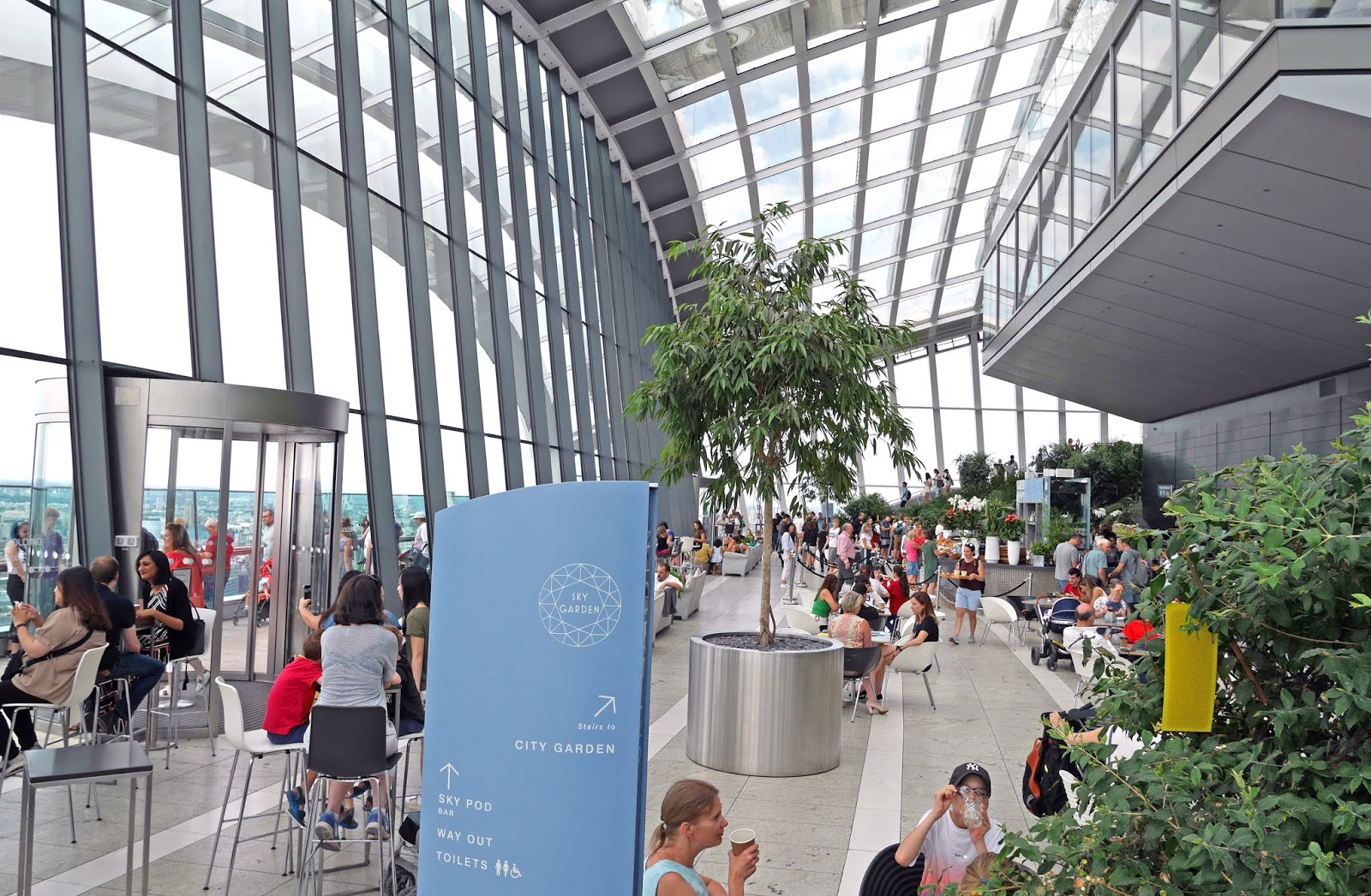 The Sky Garden at the Walkie Talkie building, London